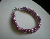 Light and Dark Rose Pink Chain-link Bracelet