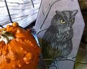 REDUCED PRICE- Purple Spooky Owl Coffin Box Halloween Gift Box