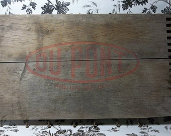 Antique Wood Dupont Dynamite Crate Front Plate