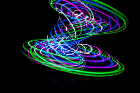 FREE SHIPPING - Solid Color LED Hula Hoop - Eco Breeze
