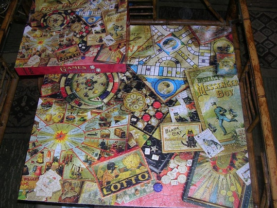 Vintage Springbok Jigsaw Puzzle Games People Played PZL2472
