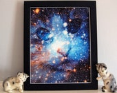 Cat Space Face Galaxy Stars Fine Art Print Nebula