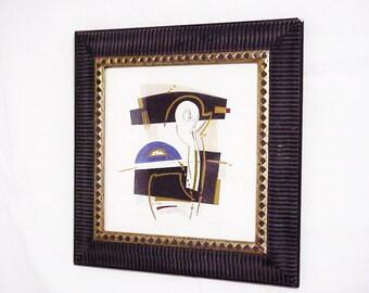 Emotion IV Modern Art Framed Serigraph, Suprematism, Symbolism, Expressionism