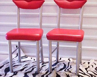 Marilyn Red Lips Chairs Pair - Studio 65, Dali, Marilyn, Surrealist, Contemporary Art, Modern Design