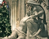"Blank Christmas Cards ""Christmas Pieta at St. Patrick's Cathedral in New York City"", Pack of 10"