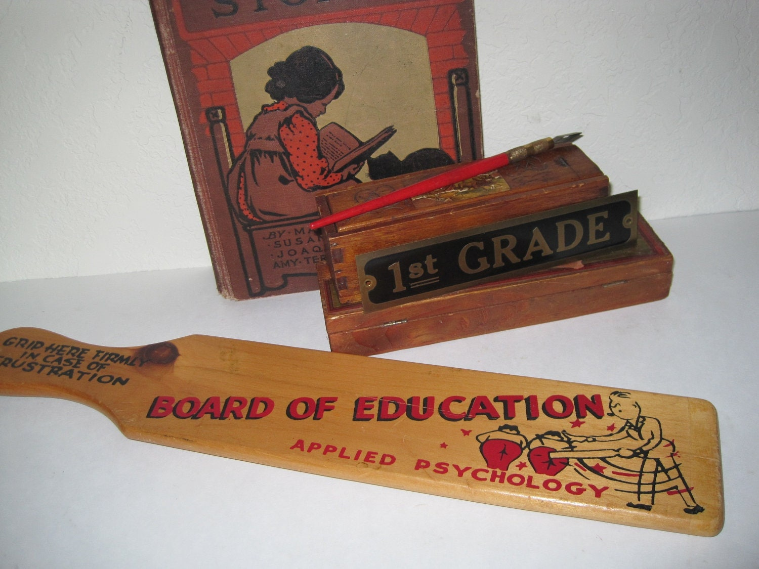 Vintage School Teachers Spanking Paddle Board Of By
