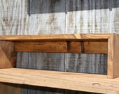 Rustic Over the Sink Shelf - towel holder