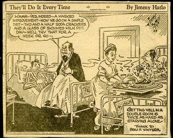 Vintage Lot of 5 1940s Newspaper comics with timed bonus