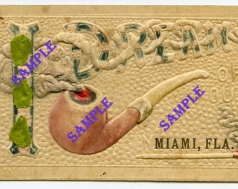 Digital Download-Pipe Dreams from Miami, Florida-Vintage Postcard