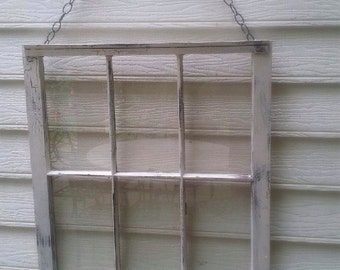Old Rustic Window With Chain
