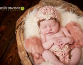 crochet pink diaper cover and hat   FREE Domestic SHIPPING