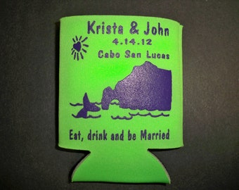 WEDDING FAVOR : Custom  Can Holder 25