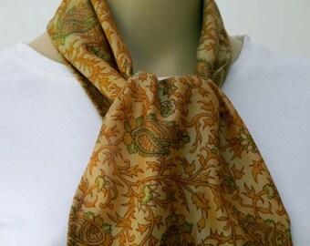 Silk Scarf, Sari Scarf, Woman Accessories