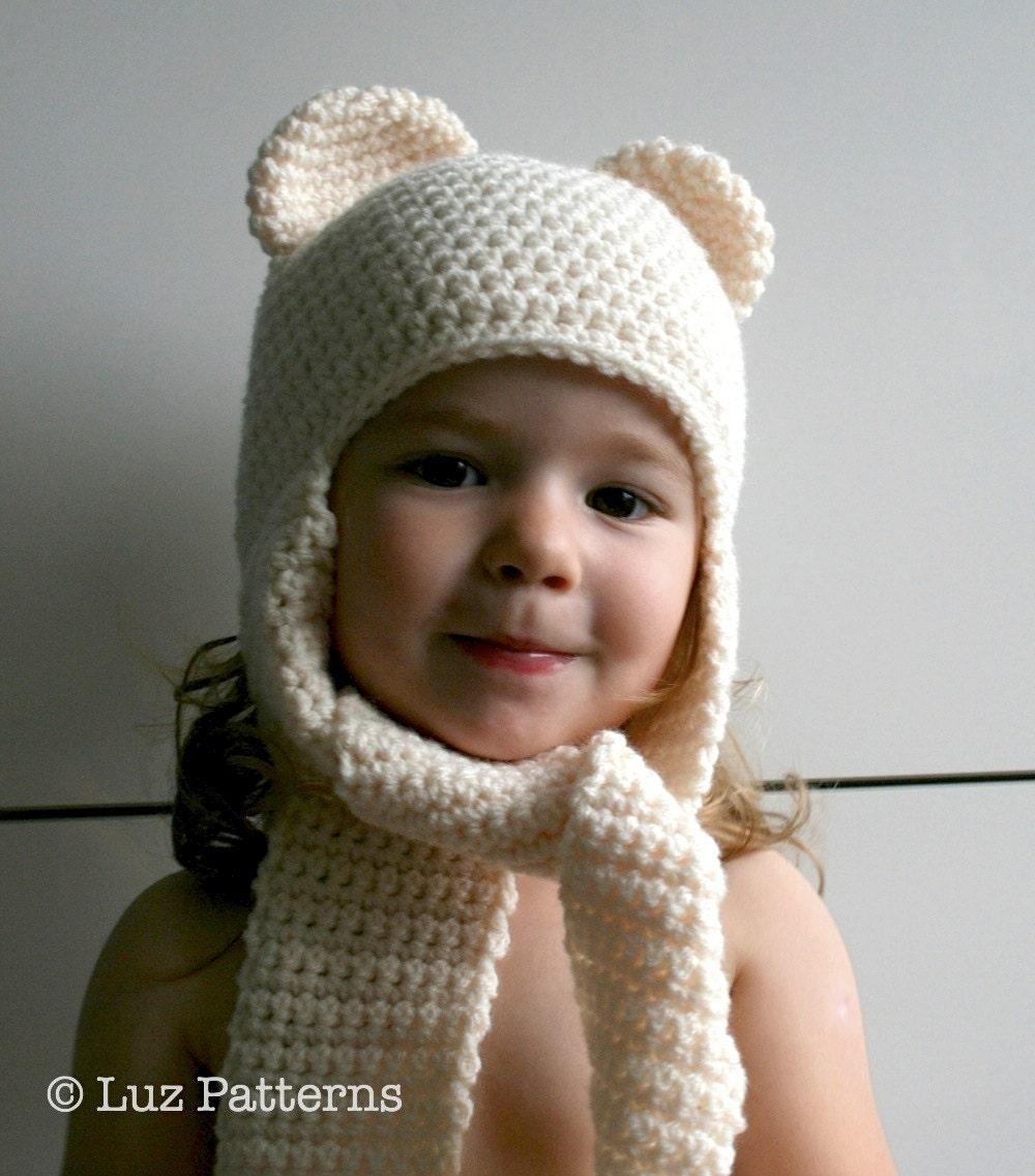 Crochet Hat Pattern Instant Download Crochet Baby Bear Hat