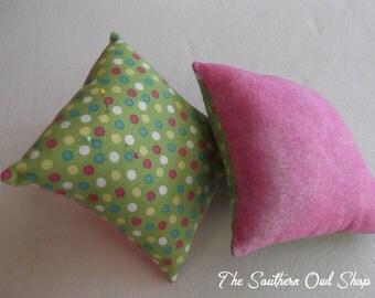 Green multi-color polka dot pin cushion