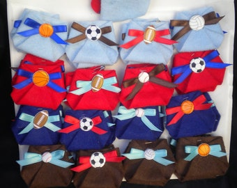 48pc Dirty Diaper Game Baby Shower Sport Theme Favors