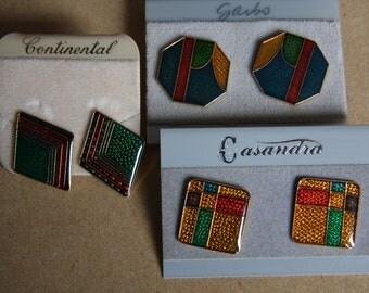 Assorted vintage earrings - 3 pairs