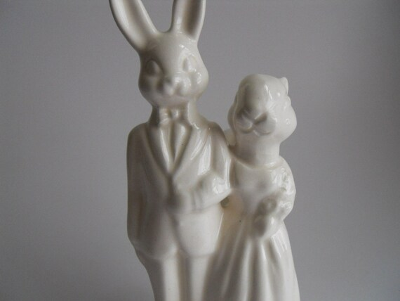 Wedding Cake Topper with Squirrel and Bunny