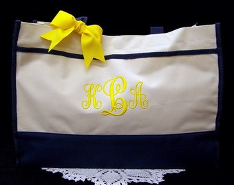 6 Personalized Tote Bags Bridesmaid Gifts Monogrammed Wedding Totes