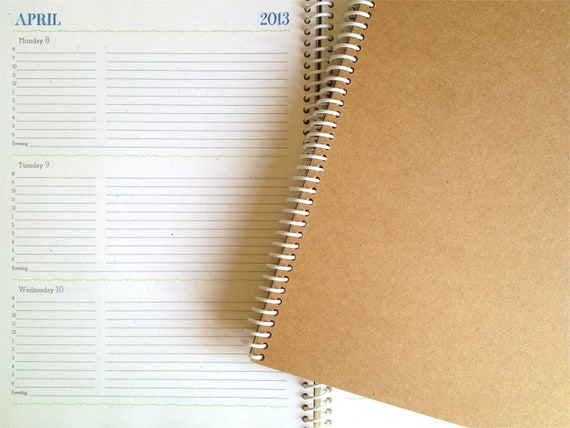Large 2013 Weekly & Monthly Planner (Natural)
