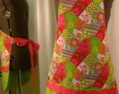 Pink Patch Work Reversible Apron