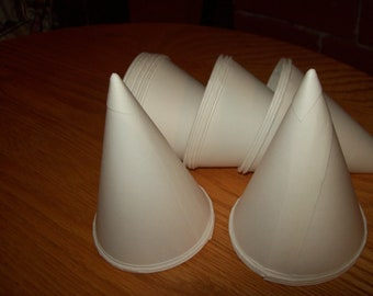 50 White Paper Cones Cups, Candy Cups, Nut Cups,