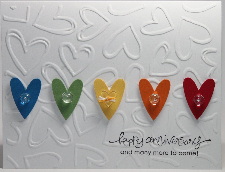 Happy anniversary stampin up handmade card