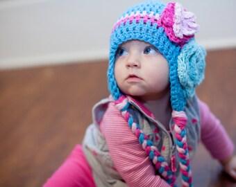 baby hat, crochet baby hat, little girls hat, baby girl hat, crochet girls hat, kids hat