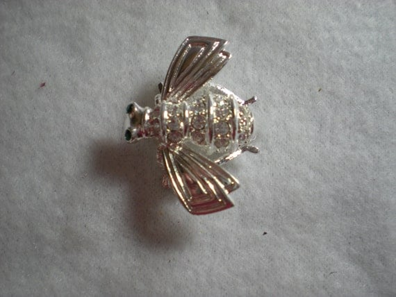 Joan Rivers Silver Bee Pin