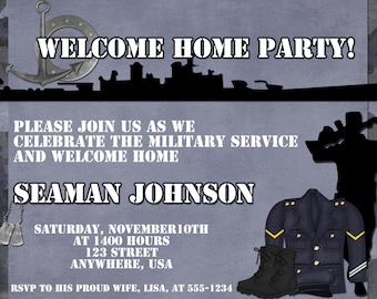 Navy Welcome Home Party Invitation