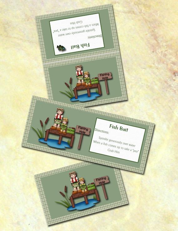 Diy fun fish bait gag gift bag topper bg002 for Fishing gag gifts