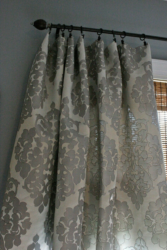 Silver Damask Curtains images