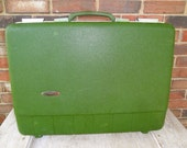 ON SALE Vintage Forecast Green Hard Shell Suitcase