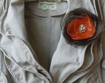 Fall Wedding Corsage Dark Brown Rust and Burnt Orange Fall Wedding Corsage for Brides, Bridesmaids, Mothers of the Bride