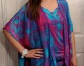 Goddess Wear set in hand painted silk