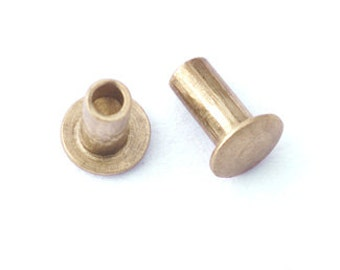 "1/16"" Dia. 1/8"" Long Brass Rivets made by CRAFTED FINDINGS"