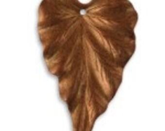 Vintaj 38x23mm Woodland Leaf - Copper