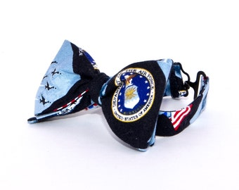 Boys Freestyle Bow Tie Air Force School Picture Photo Prop Military Welcome Home
