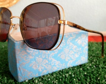 Vtage Gold and Tortise Shell Wire Sunglass Frames