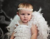 4T - White Feathered Baby Wings