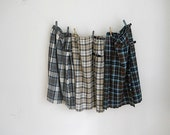 Lot of 1960's Tartan Plaid Skirts, Made in Great Britain, Wool Plaid Skirt, Christmas Card Outfits, Back To School Clothes, Hamilton Bermuda