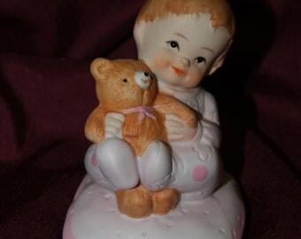 Bear Ceramic Cake Topper Baby Shower