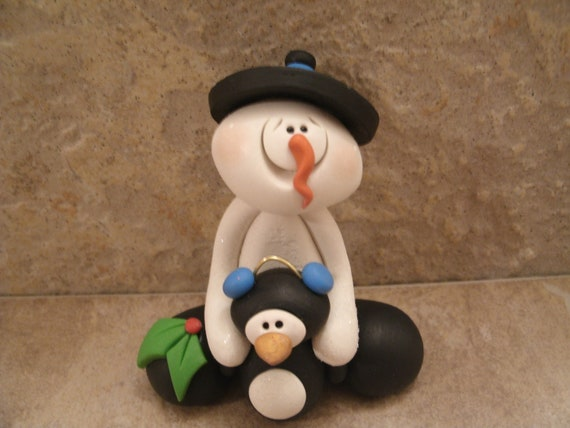 Snowman and Penguin Pair