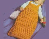 Vintage Knit Babies Sleeping Bags B048 from WonkyZebraBaby