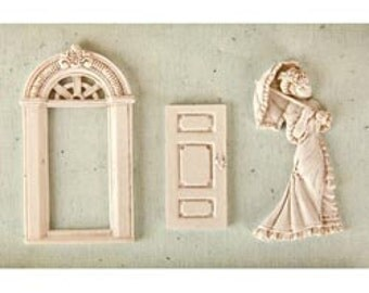 in STOCK Prima PARLOR Shabby Chic Resin Treasures - just released cha summer 2012