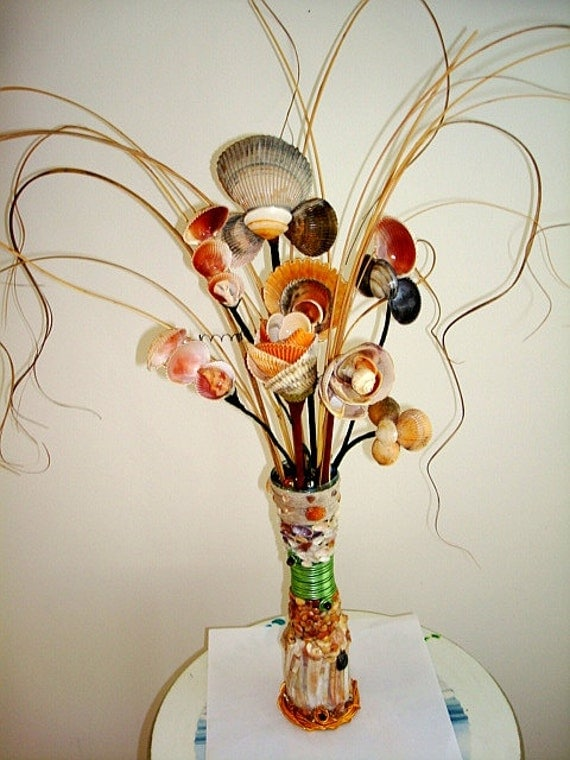 Colorful Sea Shell Bouquet