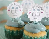 We Go Together, Cupcake Toppers, Anniversary, Wedding, Love, Valentines Day, Just Because, Set of 12