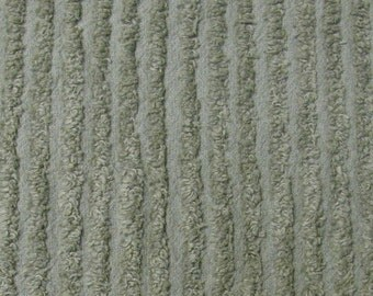 1/2 Yard of Olive Green Stripe Chenille