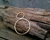 Maria Necklace / Brushed Gold Circles