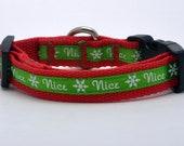 Extra Small Nice Christmas Dog Collar